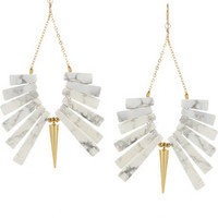 Gemma Redux Gold-plated howlite earrings – 50% at THE OUTNET.COM