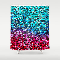THINK TEAL AND PINK Shower Curtain by Catspaws