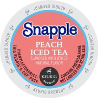 Keurig, Snapple, Peach Iced Tea, K-Cup packs, 72 Count