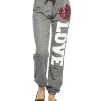 Love Heart Sweatpant | Wet Seal