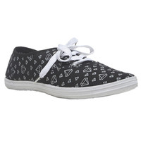 Diamond Printed Tennis Shoe | Wet Seal