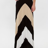 Women's Versatile Maxi Skirtin Black/Cream by Daytrip.