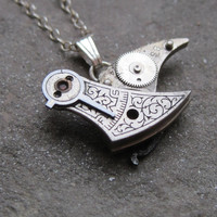 "Clockwork Bird Pendant ""Aeronaut"" Mechanical Bird Necklace Elegant Steampunk Balance Cock Sparrow Gear Robot Wing AMECHANICALMIND"