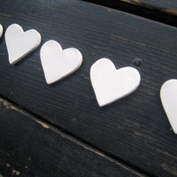 200 Bisque Hearts or Stars MADE TO ORDER - Dinner Place Cards - Wedding Decoration - Craft Idea - For the Classroom
