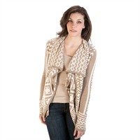Angie Juniors Double-Knit Open Front Cardigan at Von Maur