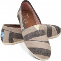 Beige & Navy Stripes Women's Classics