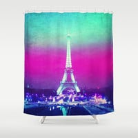 La Tour Eiffel Shower Curtain by M Studio