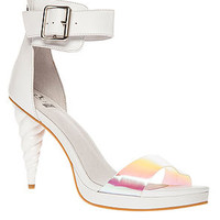 The Pegasus Shoe in White Iridescent (Exclusive)