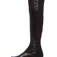 5050 Nappa Leather & Neoprene Knee High Boots in Black