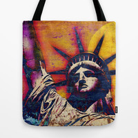 STATUE OF LIBERTY Tote Bag by The Griffin Passant