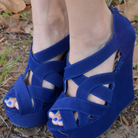 Follow Through Wedges: Royal Blue | Hope's