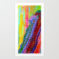 Bright City Art Print by Adka