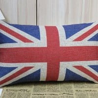 50*30cm London Olympic Decoration Rectangular UK Flag Union Jack Sherlock Holmes Movie Props Pillow Cases