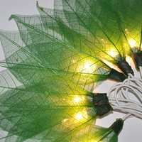 Green Champaka flowers string lights for party & decoration (20 bulbs)