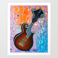 Mandolin Serenade Art Print by Adka