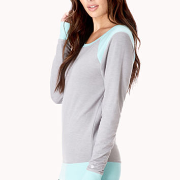 Colorblocked Workout Sweatshirt
