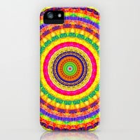 Batik Bullseye iPhone & iPod Case by Peter Gross