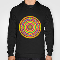 Batik Bullseye Hoody by Peter Gross