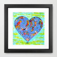 FURRY LOVE Framed Art Print by Adka