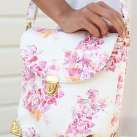 SABO SKIRT Orchid Print Bag - (No Colour Specified) - 38.0000