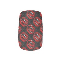 Sassy Thang Red lips/Black Minx Nail Wraps