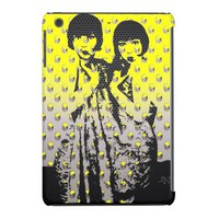 Vintage Women pop/metal texture Art ipad mini Case