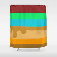cake make you hangry Shower Curtain by Vinh John Nguyen