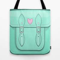Girly Satchel Tote Bag by BOP33P