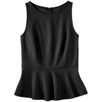 Mossimo® Women's Sleeveless Scuba Peplum Top - Assorted Colors