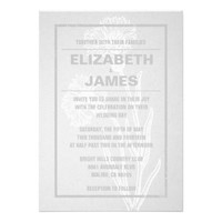 Rustic Vintage White Wedding Invitations