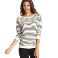Striped Cotton Baseball Tee