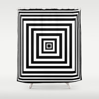 Squared Lines Series Shower Curtain by Pop E. Carp