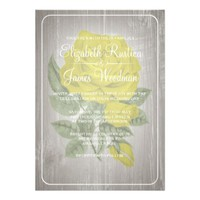 Yellow Rustic Floral Wedding Invitations