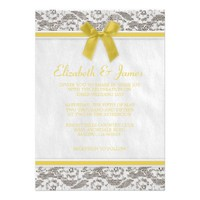 Yellow Country Lace Wedding Invitations