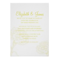 Custom Modern Yellow Wedding Invitations