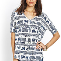Tribal-Inspired Knit Top