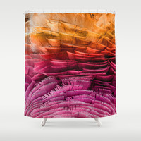 RUFFLED Shower Curtain by Catspaws