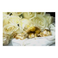 golden sleeping angel,yellow roses by healing love