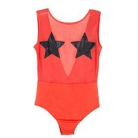 DOUBLE STAR MESH BODYSUIT - WOMEN'S