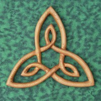 Triquetra-Celtic Knot of Inner Strength-Artistic Variation Wood Carved | signsofspirit - Woodworking on ArtFire