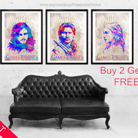 Buy 2 Get 1 FREE. Game of Thrones posters. Jon Snow poster. Jaime Lannister. King Slayer poster. Daenerys Targaryen. Khaleesi poster.