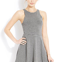 Classic Striped Fit & Flare Dress
