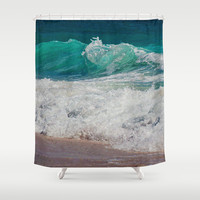 WAVE BEAUTY Shower Curtain by Catspaws