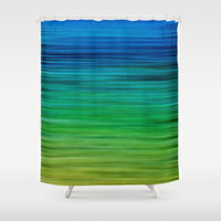 SEA BLUES Shower Curtain by Catspaws