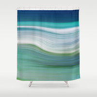 OCEAN ABSTRACT Shower Curtain by Catspaws