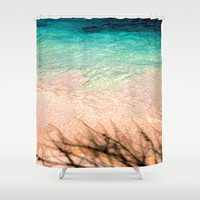 SEA AND TREE Shower Curtain by Catspaws