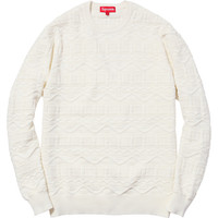 Supreme: Cotton Jacquard Sweater - White