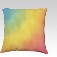 Watercolors Fun by Texnotropio (18x18 pillow)