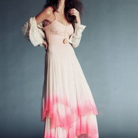 Free People Womens Merrie's Limited Edition Mirror Dress - Beige