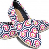 Bright Geometric Jonathan Adler for TOMS Women's Classics